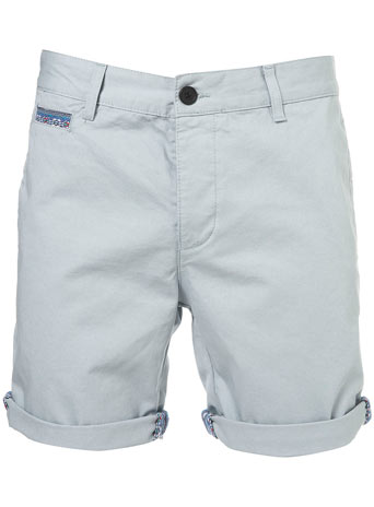 Grey Chino Aztec Trim Shorts New Clothing New In TOPMAN USA