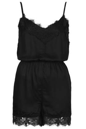 Lace Strappy Playsuit Rompers And Jumpsuits Clothing Topshop Usa