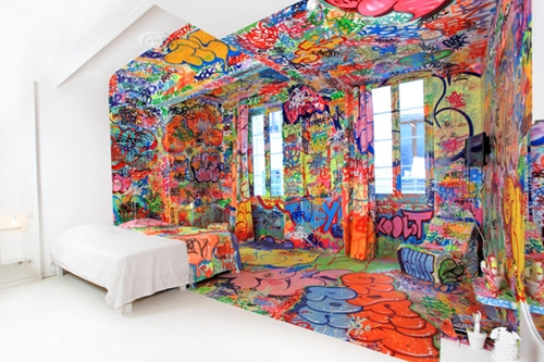 The Half Graffiti Hotel Room My Modern Metropolis