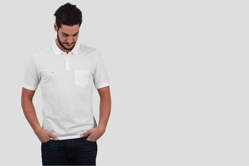 Band Of Outsiders Trap Pkt Polo White Nouveautes