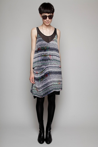 Totokaelo Acne Lori Tuning Dress Print