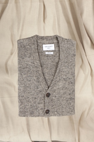 Our Legacy Knitted Cardigan Grey Melange Our Legacy