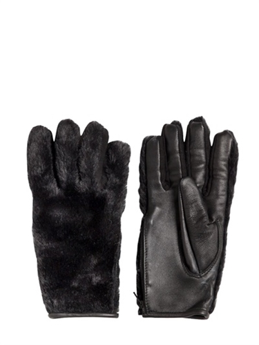 Ktz Faux Fur And Leather Gloves Luisaviaroma Luxury Shopping Worldwide Shipping Florence