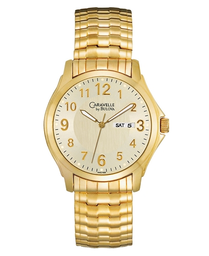 caravelle by bulova s gold tone stainless steel