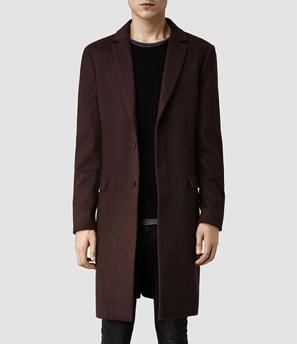 Mens Excess Coat Puce Allsaints.Com