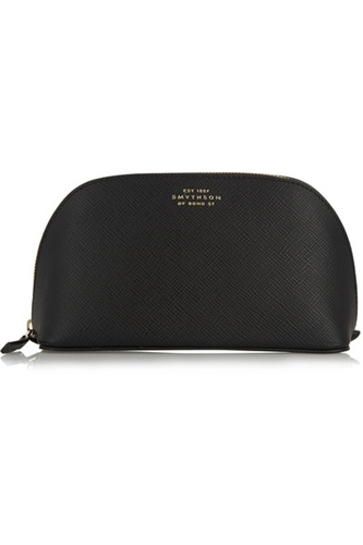 Smythson Panama Textured Leather Cosmetics Case Net A Porter.Com