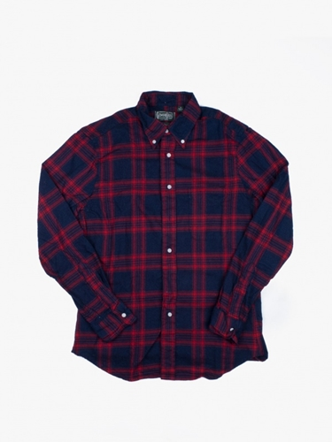 Gitman Vintage Indigo Checkered Flannel Shirt
