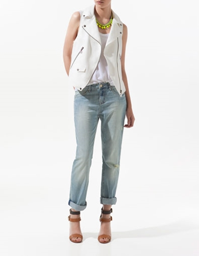 LINEN WAISTCOAT WITH ZIPS Blazers Woman New collection ZARA United States