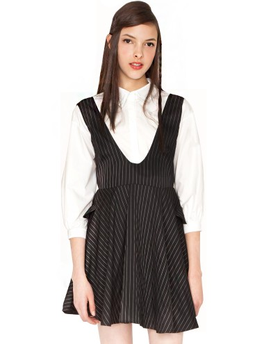 Cute Pin Stripe Dress Pin Stripe Suspender Skirt 39