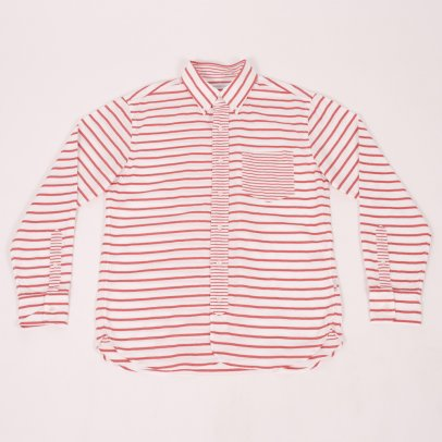 Head Porter Plus Border Oxford Shirt Red