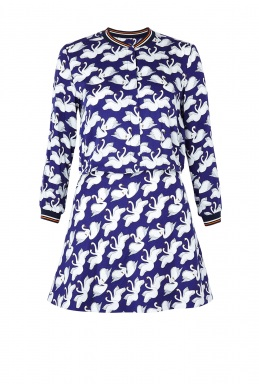 Paul Joe Sister Swan Printed Long Sleeve Dress By Paul And Joe Sister