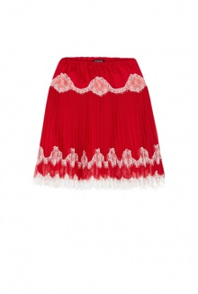 Stella Pleated Chiffon And Lace Skirt By Meadham Kirchhoff