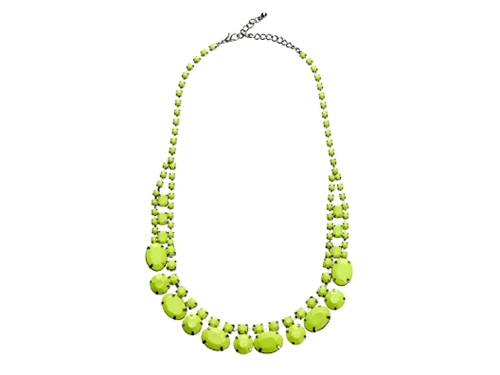 Neon Yellow Necklace by Adia Kibur from Suze Yalof Schwartz on OpenSky