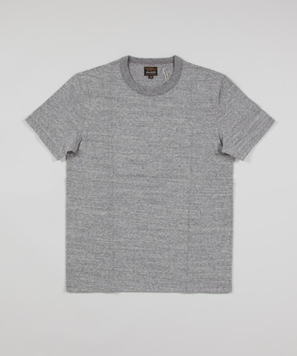 Real McCoy s Loopwheel Tee Heather Grey Superdenim