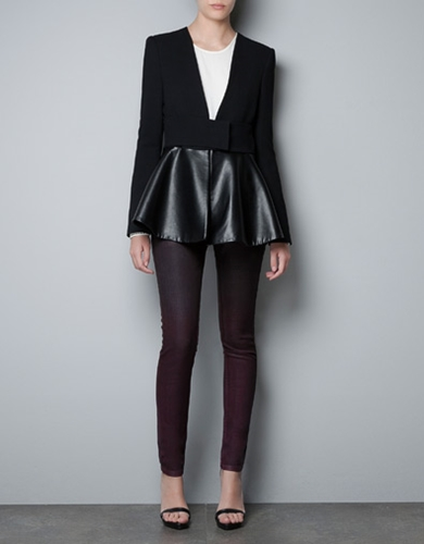 STUDIO BLAZER WITH COMBINED FRILL Blazers Woman New collection ZARA Monaco