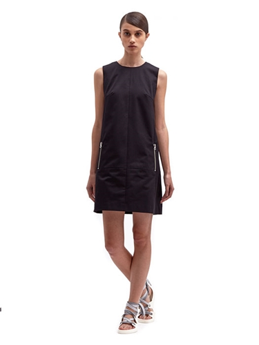 Acne Studios Women's Chow Cotton Shift Zip Dress Ln Cc