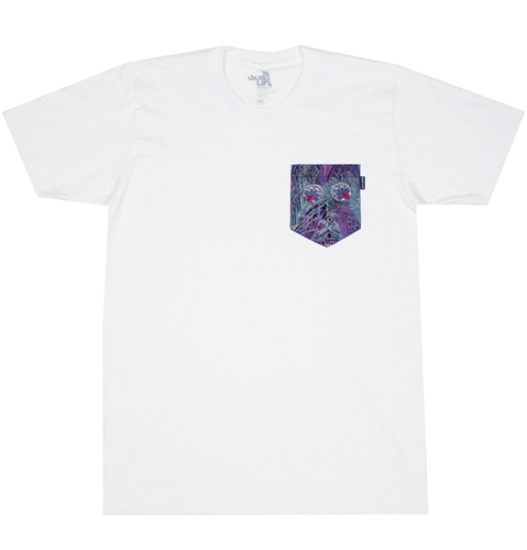 The Quiet Life Peacock Pocket T Shirt In White Huh. Store