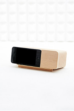 Areaware Wooden Iphone 4 Alarm Dock