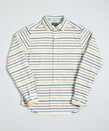 Nigel Cabourn BD Oxford Shirt Small Stripe Superdenim