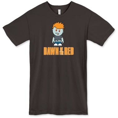 Dawn of the Red Men s T Shirt MENS Ginger With Attitude Printfection com