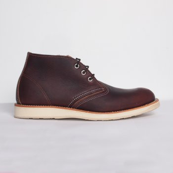 Red Wing Boots Dark Brown Work Chukka Buy Mens Designer Footwear At Denim Geek Online.