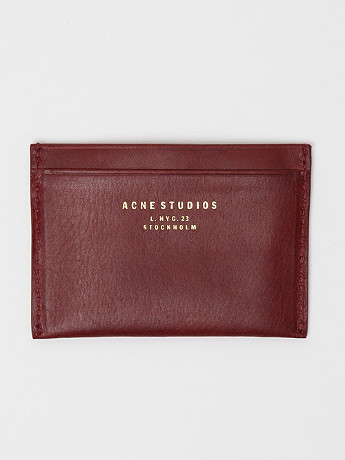 Acne Men's Card Holder In Wine At Oki Ni