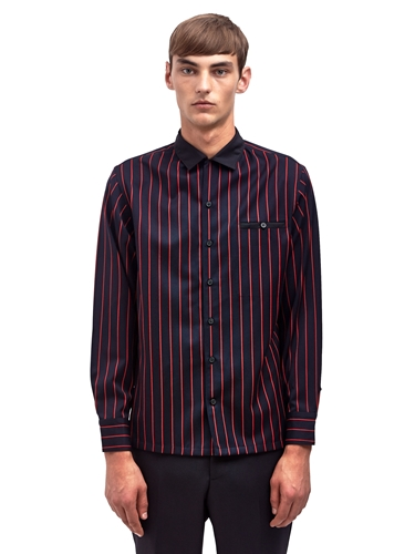 Lanvin Mens Striped Jacket Shirt Ln Cc