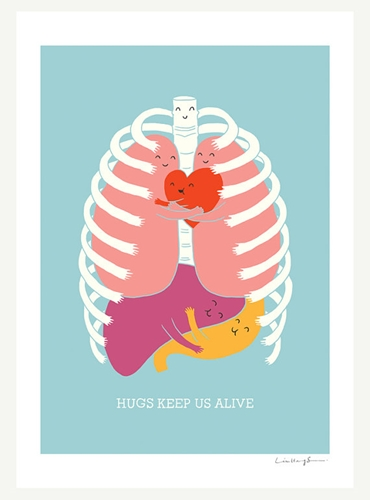 Hugs Keep Us Alive Print by ilovedoodle on Etsy