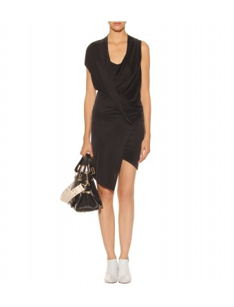 mytheresa com Helmut Lang SHALE DRAPED JERSEY DRESS Luxury Fashion for Women Designer clothing shoes bags