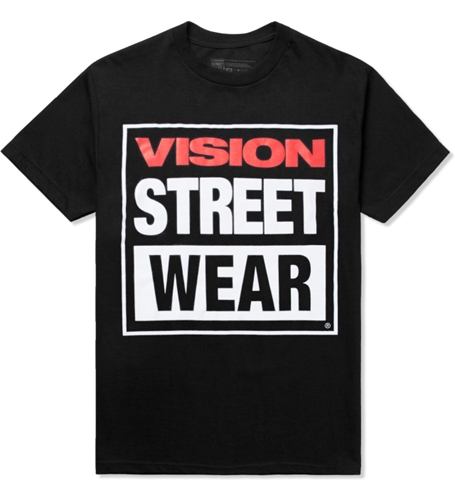 Vision Street Wear Black Logo T Shirt Hypebeast Store. Shop Online For Men's Fashion Streetwear Sneakers Accessories