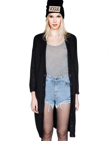 Long Black Cardigan Oversize Cardigan 57