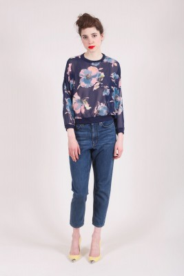 See Through Top with Floral Motifs Top Matisse at Baruckello Woman