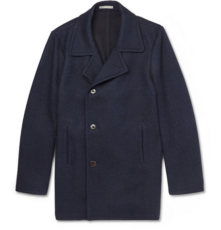 Boglioli Wool And Cashmere Blend Peacoat Mr Porter
