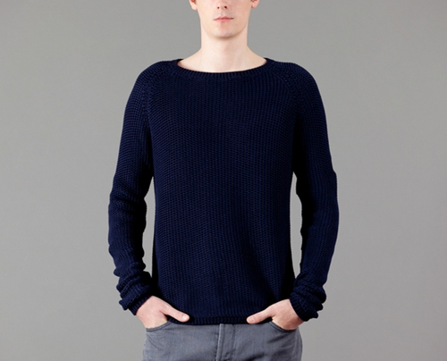 Monsieur Lacenaire Navy Blue Marcel Jumper on sale at L Exception