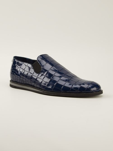 Men Opening Ceremony Crocodile Effect Slip On Shoes Fashion Designer Shoes And Boots For Men Women Bstorelondon.Com