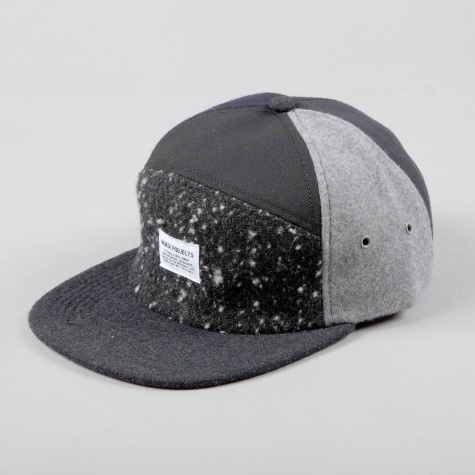 Norse Projects Patchwork 7 Panel Cap Black