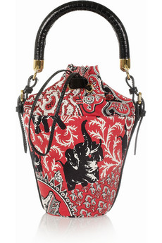 Miu Miu Printed cotton canvas mini bucket bag NET A PORTER COM