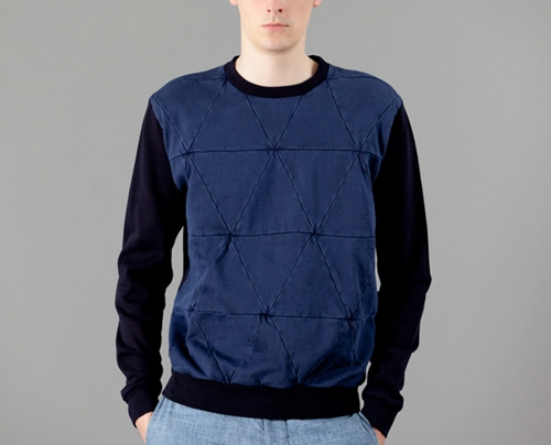 Tigersushi Furs Denim Puzzle Sweatshirt on sale at L Exception