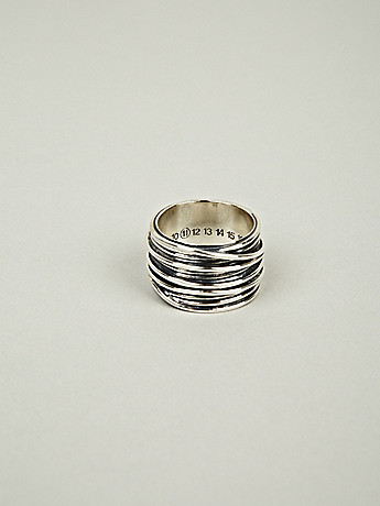 Maison Martin Margiela 11 Men s Silver Bands Casting Ring in silver at oki ni