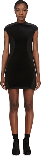 Denis Gagnon Ssense Exclusive Black Velvet Neoprene Dress Ssense