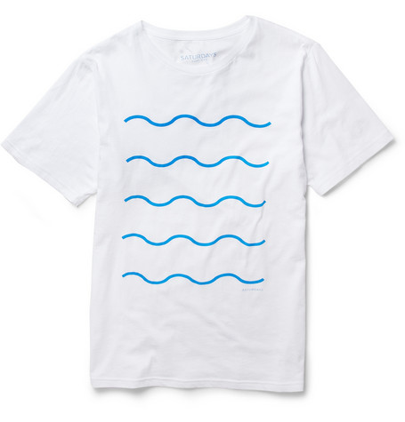 Saturdays Surf NYC Wave Print Cotton Jersey T Shirt MR PORTER