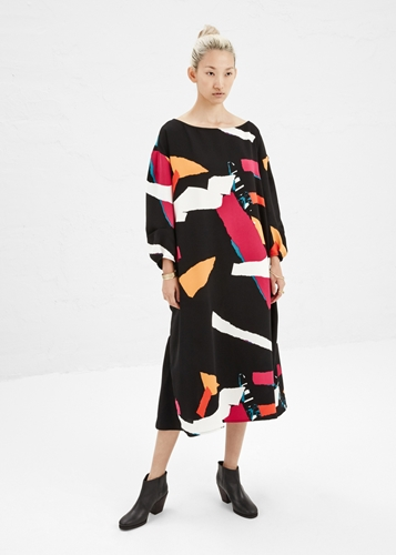 Totokaelo Rachel Comey Black Multi Sparrow Dress