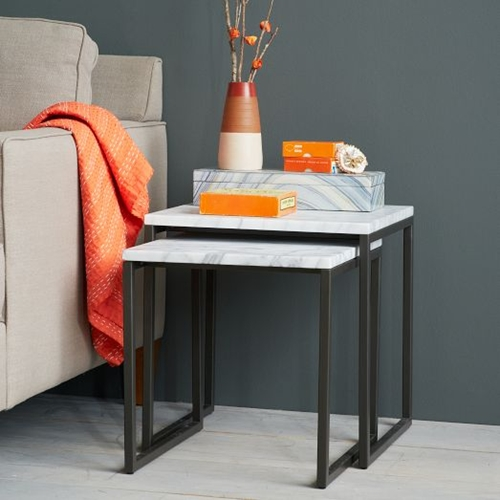 Box Frame Nesting Tables Marble West Elm