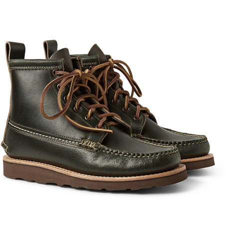 Yuketen Maine Guide Waxed Leather Boots Mr Porter