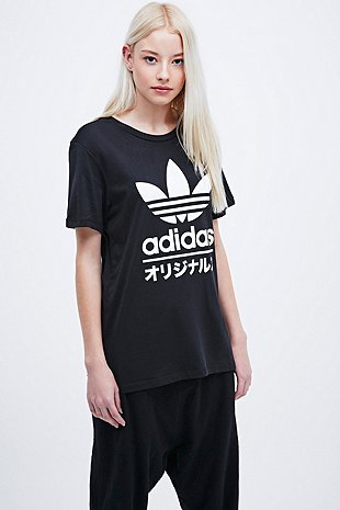 Adidas Typo Tee In Black Urban Outfitters