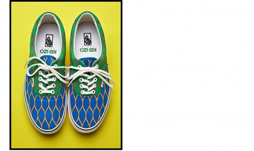 VANS x KENZO Shoes Green and Blue Shoes KENZO E Shop Buy ready to wear and accessories online
