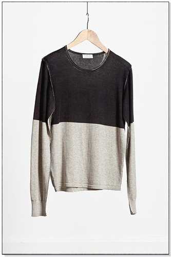measyou cashmere cotton roundneck with silkscreen print