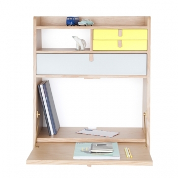 Gaston Wall Desk Yellow Light Grey Bookcases Furniture Finnish Design Shop