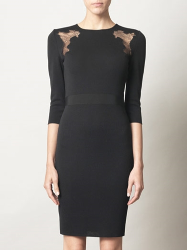 Lace insert knitted dress Giambattista Valli Matchesfashio