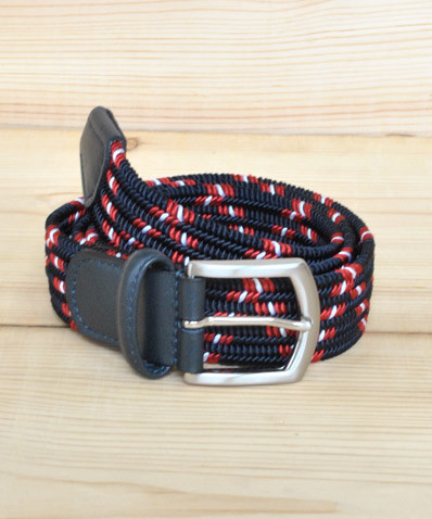 Woven Elastic Belt Navy Red The Great Divide